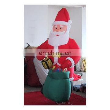 inflatable santa with gift, inflatable christmas santa claus