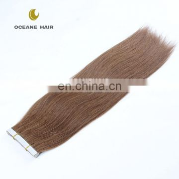Double drawn 2.5g 40pcs ombre gray invisible Remy tape hair extensions