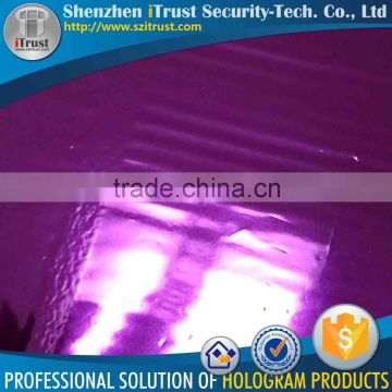 Produce color laminating film silver pet film transparent holographic film                                                                         Quality Choice