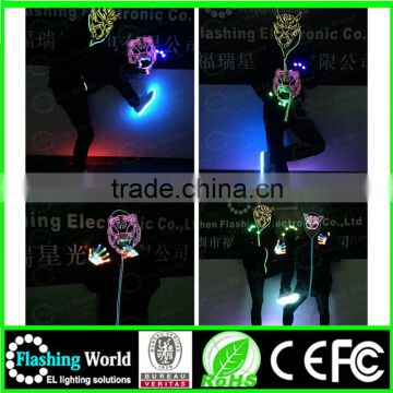 china wholesale merry christmas custom Musical el product face party mask