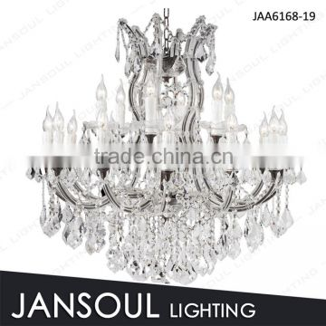19 lights blak contemporary chandelier for living room