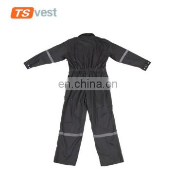 Anti- wrinkle working wear grey reflective safety coverall apparel