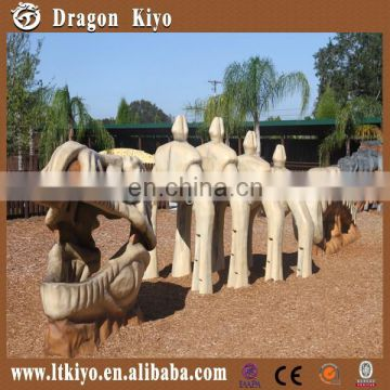Replica artificial dinosaur fossils large dinosaur bones for hot sale
