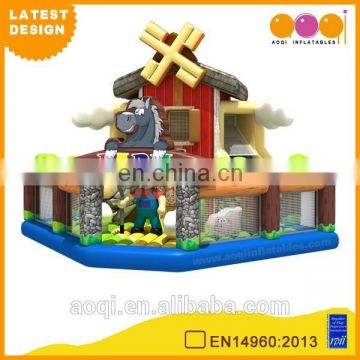 2015 AOQI latest design Windmill farm inflatable fun city playground for kids for sale
