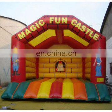 Inflatable bouncer Castle kids game for amusement with customized logos and colours