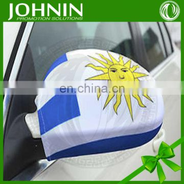 cheap national small spandex polyester elastic cover car mirror flag