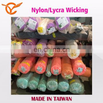 Functional Moisture Wicking Nylon/Lycra Fabric Stock Lots For Sports Wear