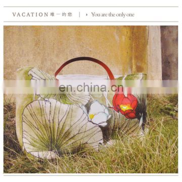 China national printing vintage canvas bag