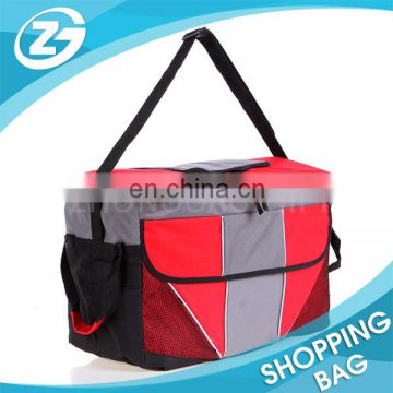 Portable Square Front Bag Cooler Bag With Zipper Puller