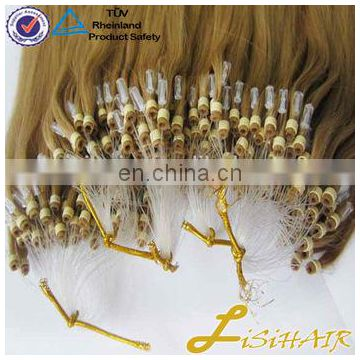 Wholesale 100% Double Drawn 1g Remy Italian Keratin Ombre Micro Loop Ring Hair Extension
