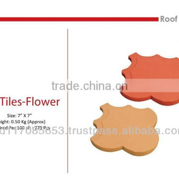 Roof Tiles - Flower/ Clay/ natural color/ Eco friendly/ Heat