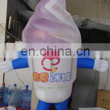 Ice-cream inflatable movable cartoon