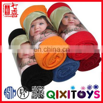 Hot sale quick easy knitted cashmere safety baby blanket