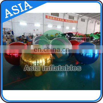 Factory Price Inflatable Mirror Balloon , Inflatable Sliver Spheres for Advertising