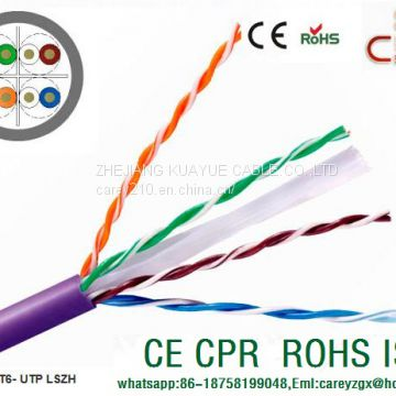 Lan cable FTP CAT6 & network cable 23awg copper conductor 250mhz