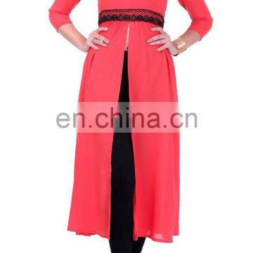 Beautiful Coral Maxi Slit Top for women