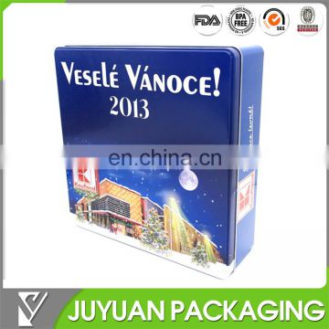 Christmas Large Tin Container, Large Tin Storage Box Oem Order Welcome ...