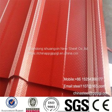 Diamond embossed PPGI steel coil sheet