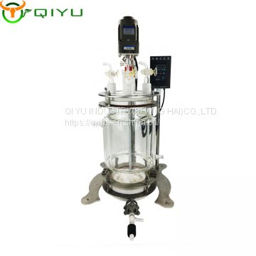 5L Polypeptides Solid State Reaction Kettle glass reactor glass lined vessel