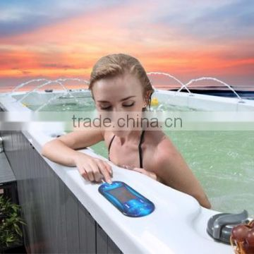Best sale rectangular endless jazzy pool spa with swim and powerful massage bath tub