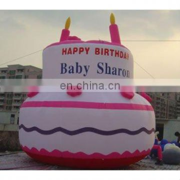 Inflatable birthday cake Replica