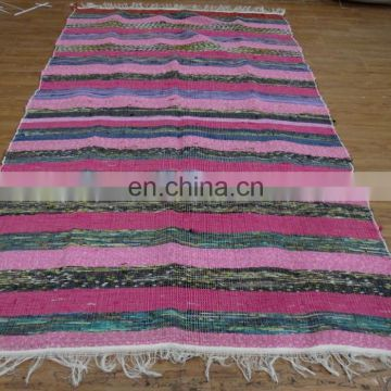 Indian Floor Runner Hand Woven Decorative Chindi Rugs Dari