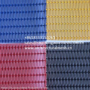 PVC Colored Powder Coating Decorative Wire Mesh For Architectural