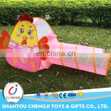 2017 Hot pink outdoor plastic colorful play kids tent tunnel for sale