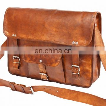 Handmade Real goat Leather Sling bag Indian handmade Men's cross body bag wholesale 2016