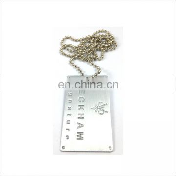 single blank metal aluminum dog tag with logo military dog tag customized