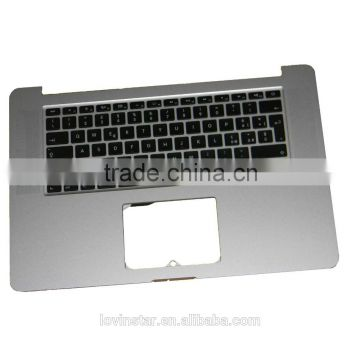 Factory Price For Apple MacBook pro retina A1398 Top case with keyboard 2013 Italian layout