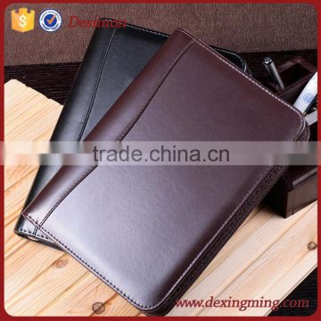 cheap price a3 size leather business portfolio folder for woman bag style with art Odor