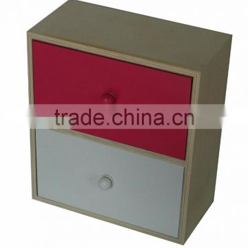Table top small plywood cabinet