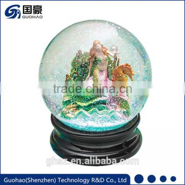 Cheap Water snow globe ball mermaid snowdome souvenir gift