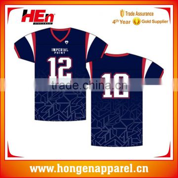 5c1a028f8 Hongen apparel wholesale sublimated american football jersey cheap custom  embroidered football jersey Team American Rugby jersey of American football  ...