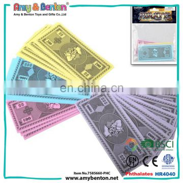 Best selling play pirate pattern fake paper money for kids