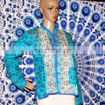 Jacket Hand Block Coat Handmade Indian Warm Wrap Coat Jacket