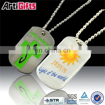 Wholesale brass custom made reflective dog tag manufacturer