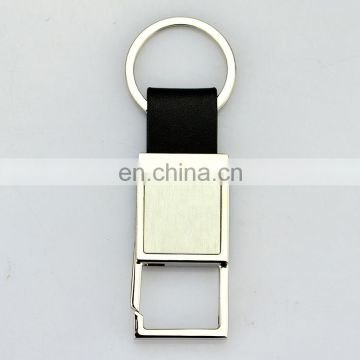 Custom logo design leather luxury large key ring holder