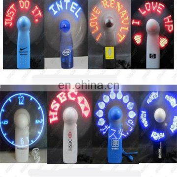 Led mini message display fan Hot selling promotional gift