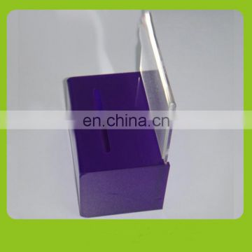 New design blue PMMA suggesstion box with lock plexiglass suggestion box manufacturers acrylic suggestion box