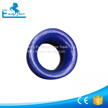 Round wire rope thimble for steel wire ropes
