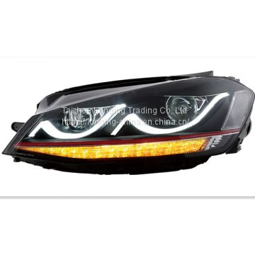 modified 2015 Volkswagen headlamp and bumper with GTI outlook