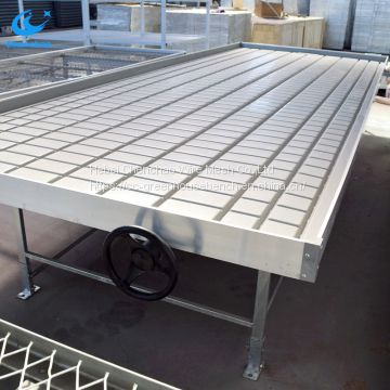 Good quality ebb and flow with plastic trays rolling table