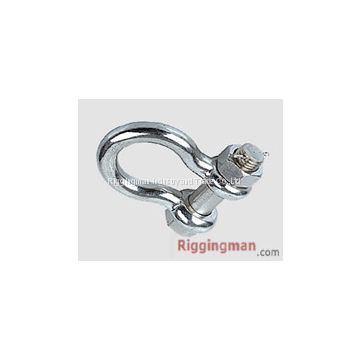 STAINLESS STEEL BOLT TYPE SAFETY ANCHOR SHACKLE U.S. TYPE ,a.i.s.i 304 or 316