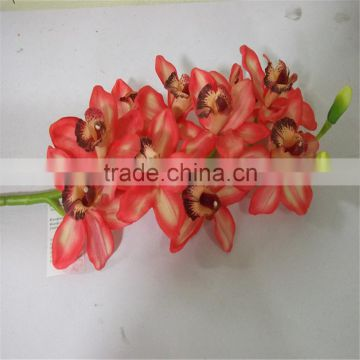 SJ20170047 China wholesale factory price silk flowers for indoor decoration cheap plastic artificial orchid
