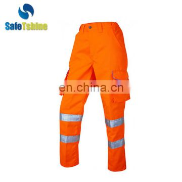 Unique design hot sale reflective tape work pants