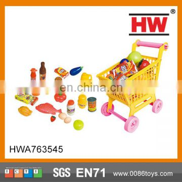 Hot Sale Kid Toy Small Supermarket Shopping Cart
