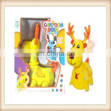 Electric Christmas gift music and light free wheel cartoon deer