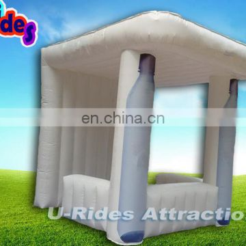 white small Inflatable advertising air-sealed booth for sale